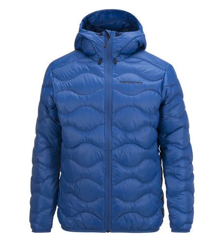 Peak Performance Helium Jacke Kapuze True Blue