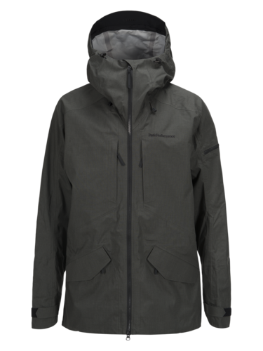 Peak Performance Teton Ski Jacket Black Olive Mens